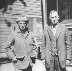 Edward A. Birge (left) and Chancey Juday at the Trout Lake Research Station, 1930