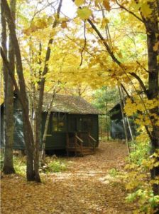 Trout Lake cabin in the fall