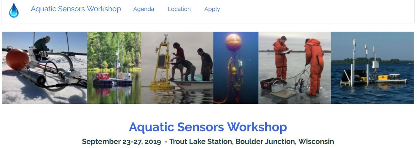 Aquatic Sensors Workshop, September 23-27 at CFL Trout Lake Station